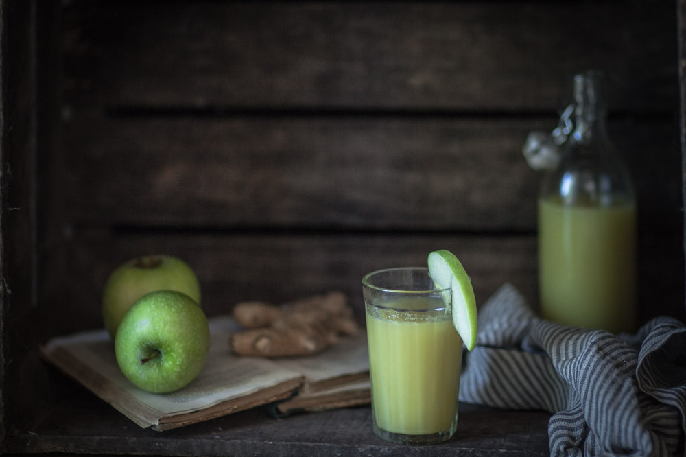 Jus pomme gingembre