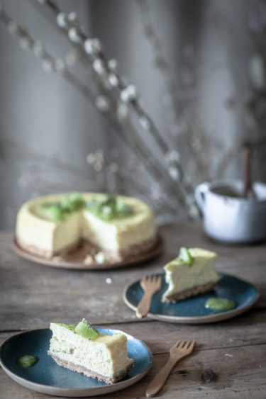 Part de cheesecake au citron vert
